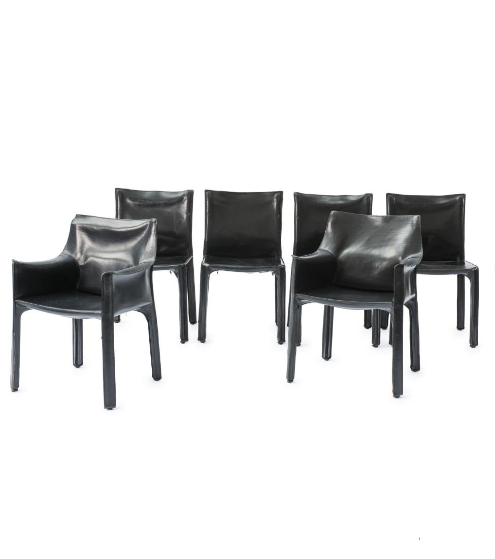 Two 'Cab 413' armchairs, four 'Cab 412' sidechairs,