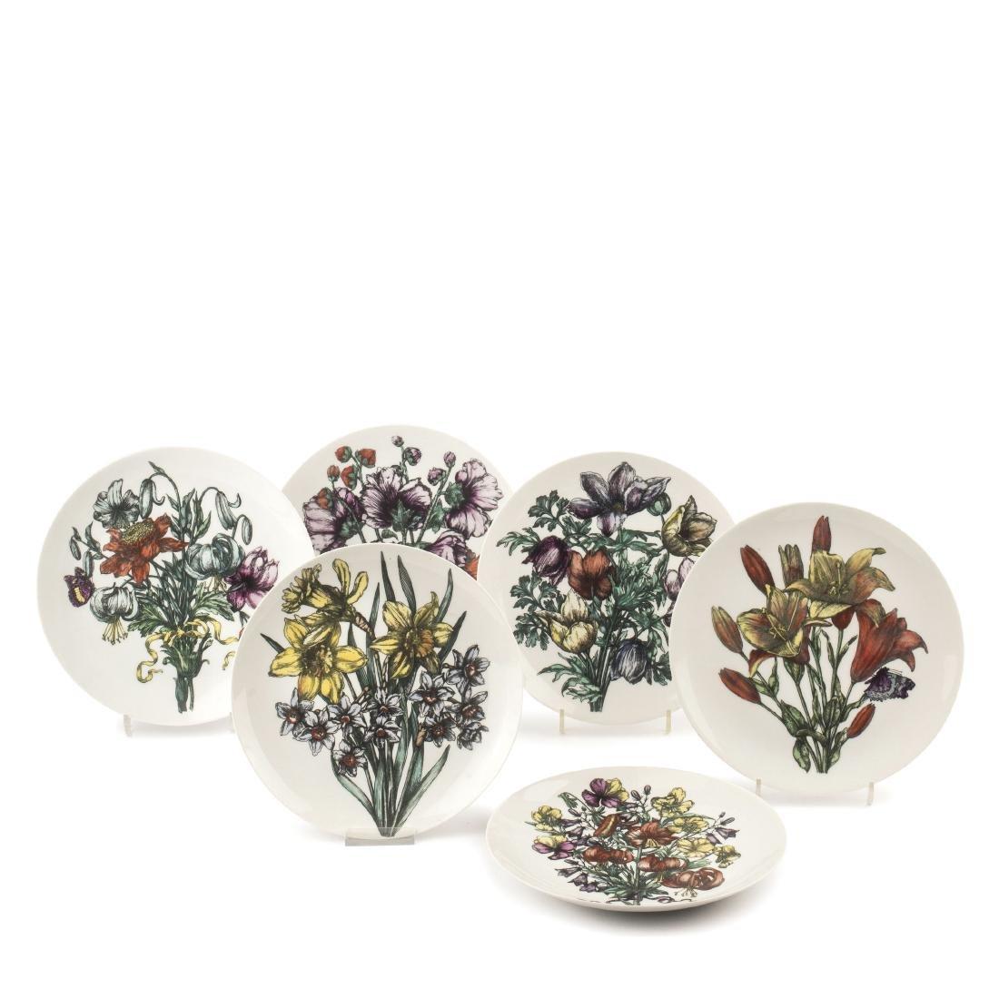 Six 'Fiori' plates, 1960s