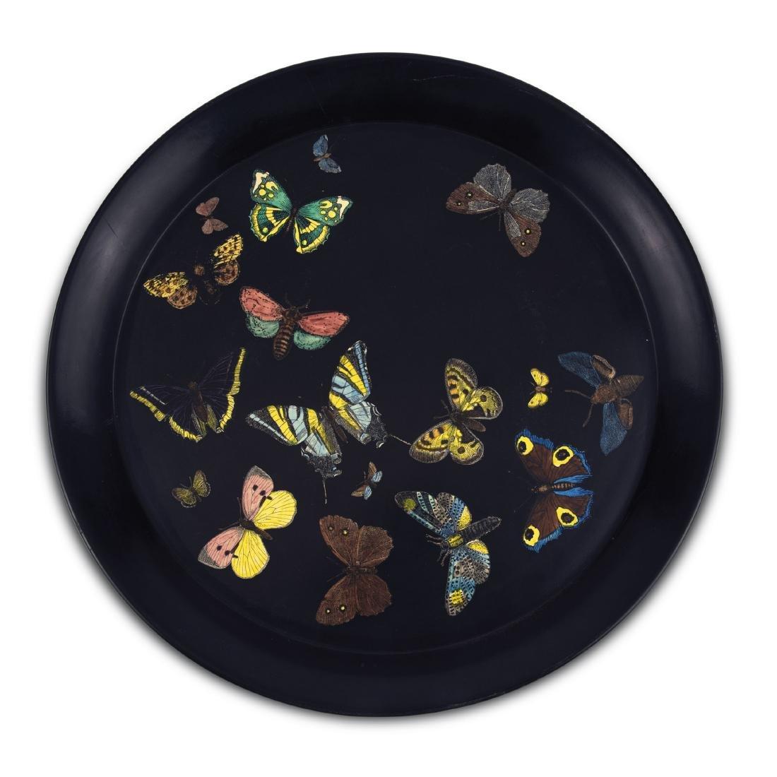 'Farfalle nero' tray, 1950/60s