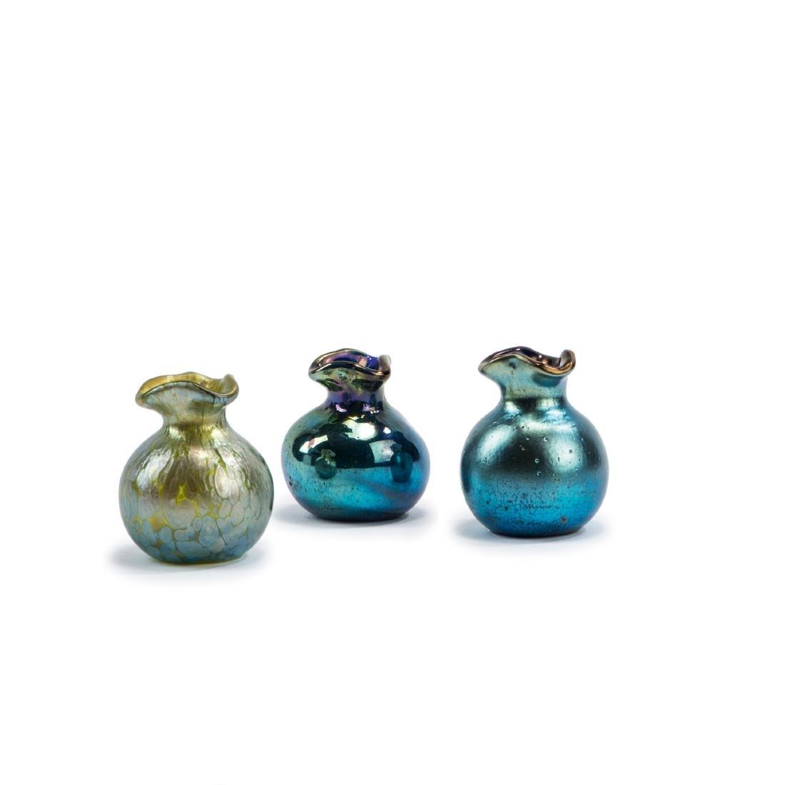 Three miniature vases, c1900