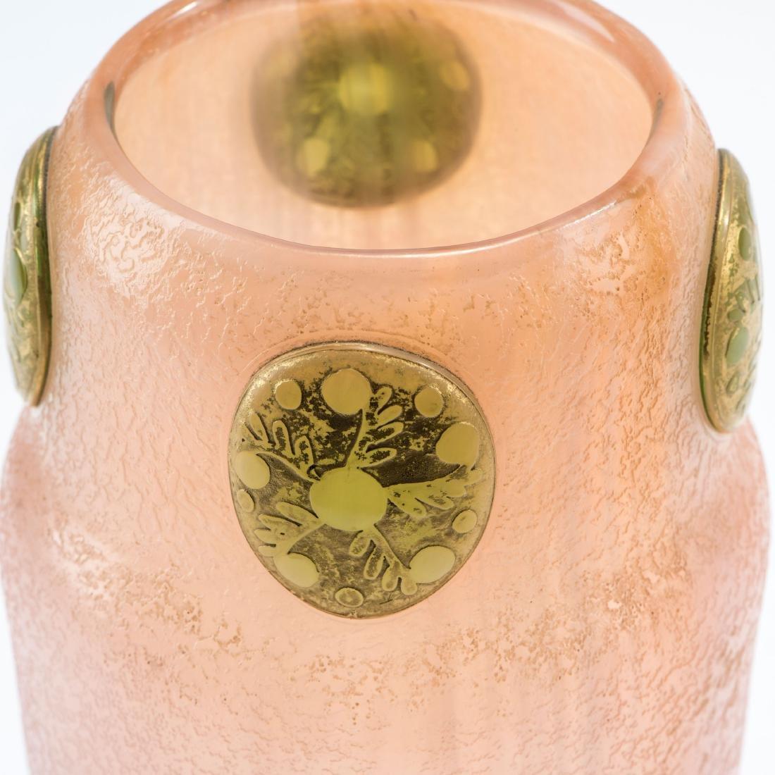 'Rose quartz' vase with applications, 1909-10 - 4
