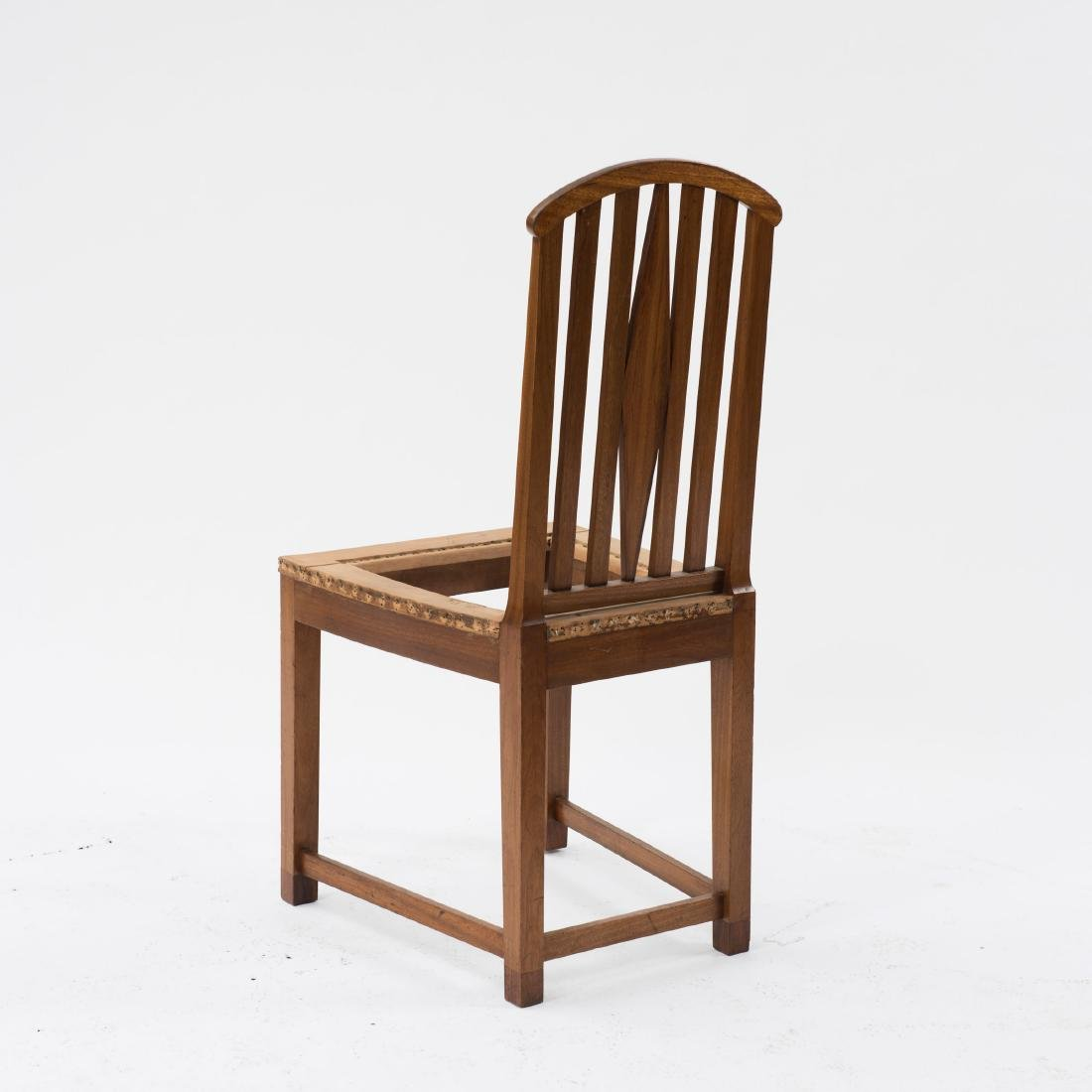 Six side chairs, designed for the designer's first - 3