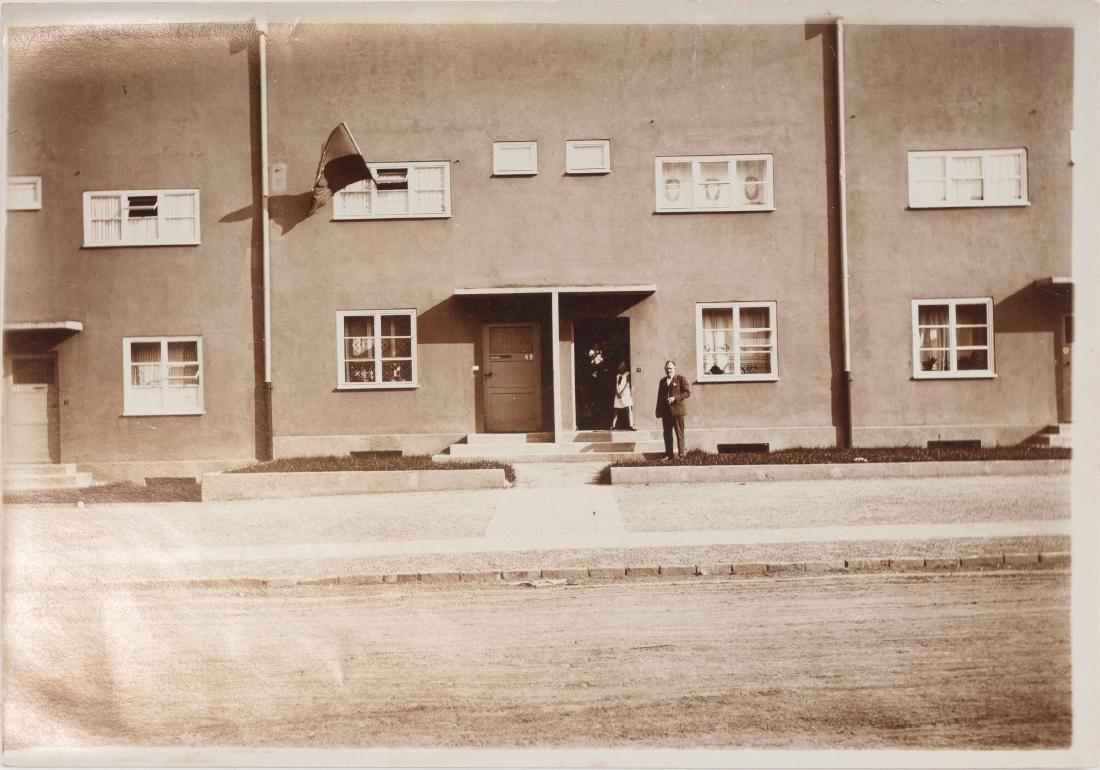 Two photographs 'Römerstadt', Frankfurt/Main, c1926