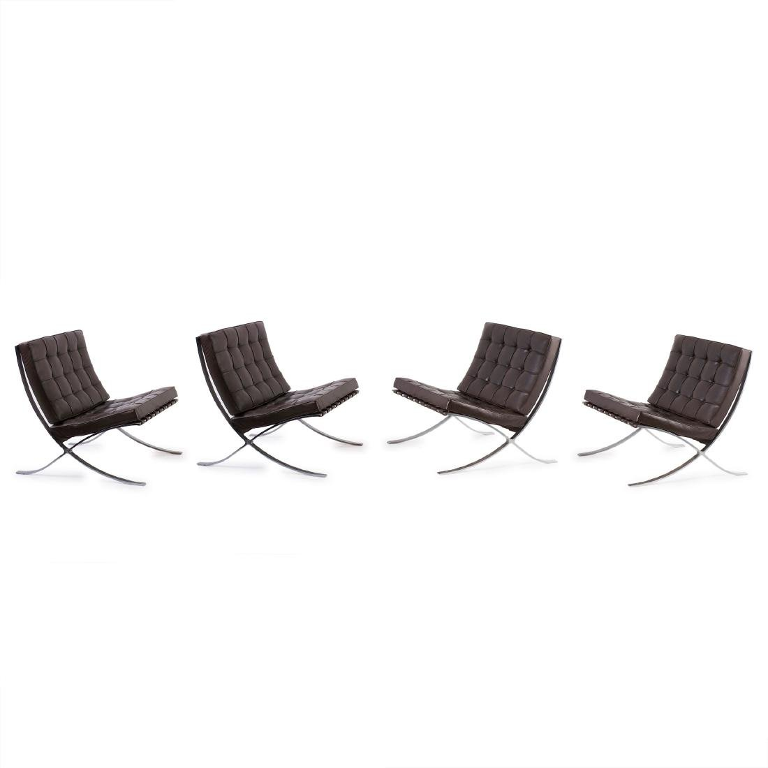 Four 'Barcelona' easy chairs, 1929