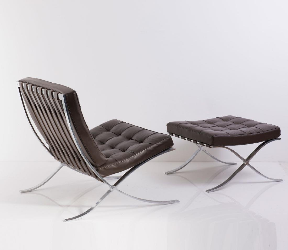 'Barcelona' easy chair and ottoman, 1929 - 4