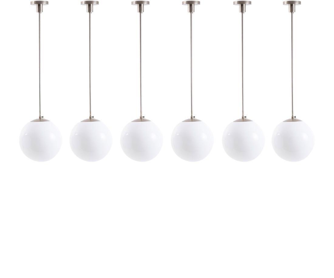 Six pendant lights, 1920/30s
