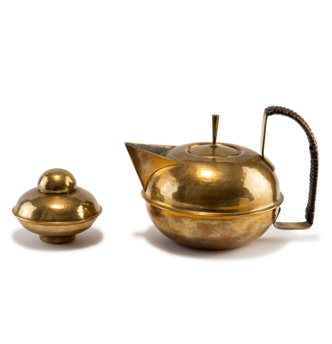 Teapot and tea caddy, c1930