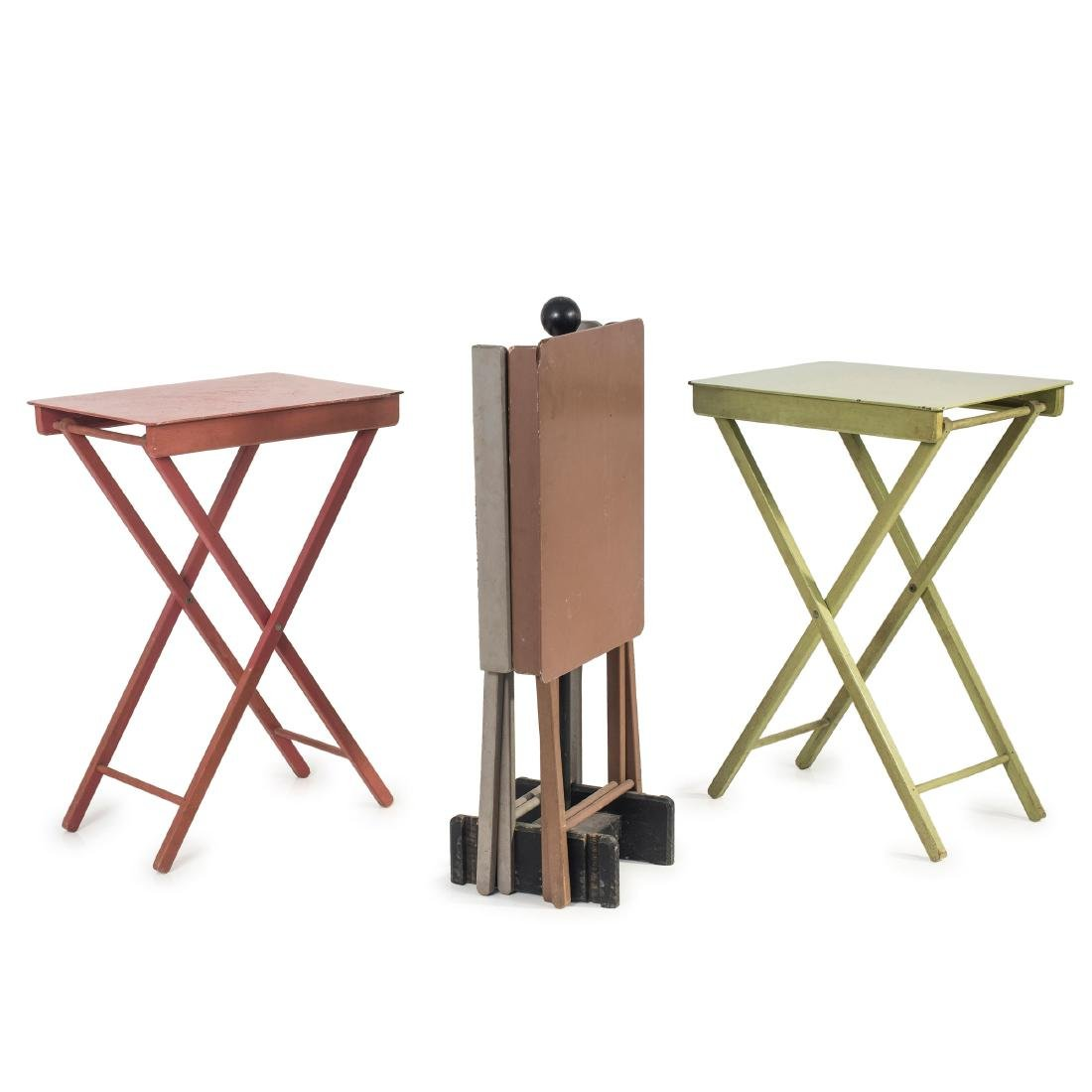 Four camping tables, 1930s