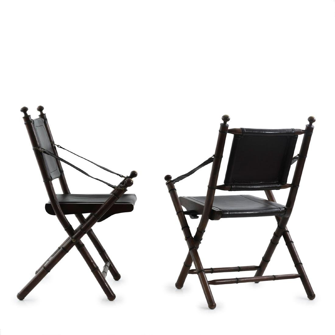 Two folding chairs, 1930/40s