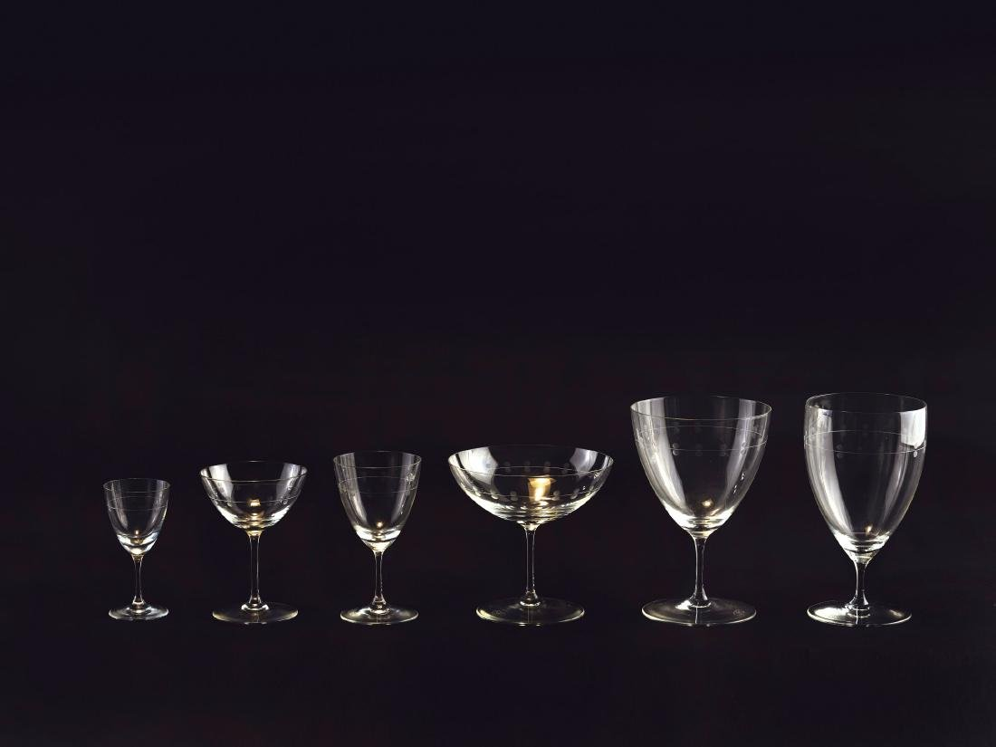 Set of 68 'Oberweimar' glasses, 1935