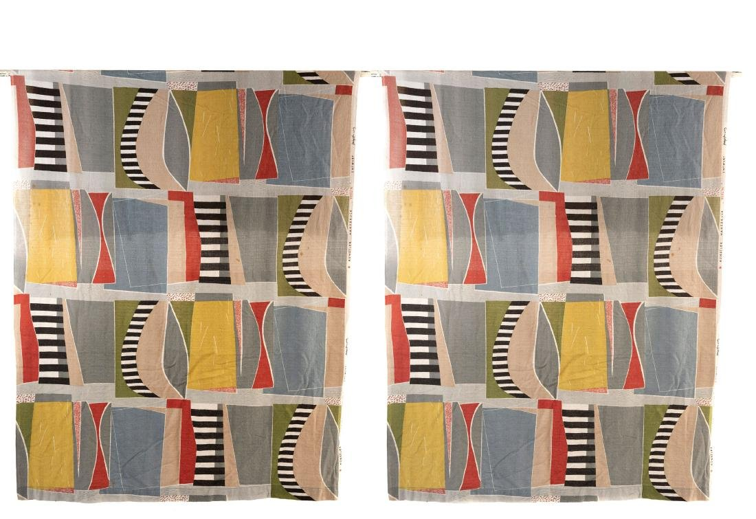 Two 'Blolin' curtains, 1950s