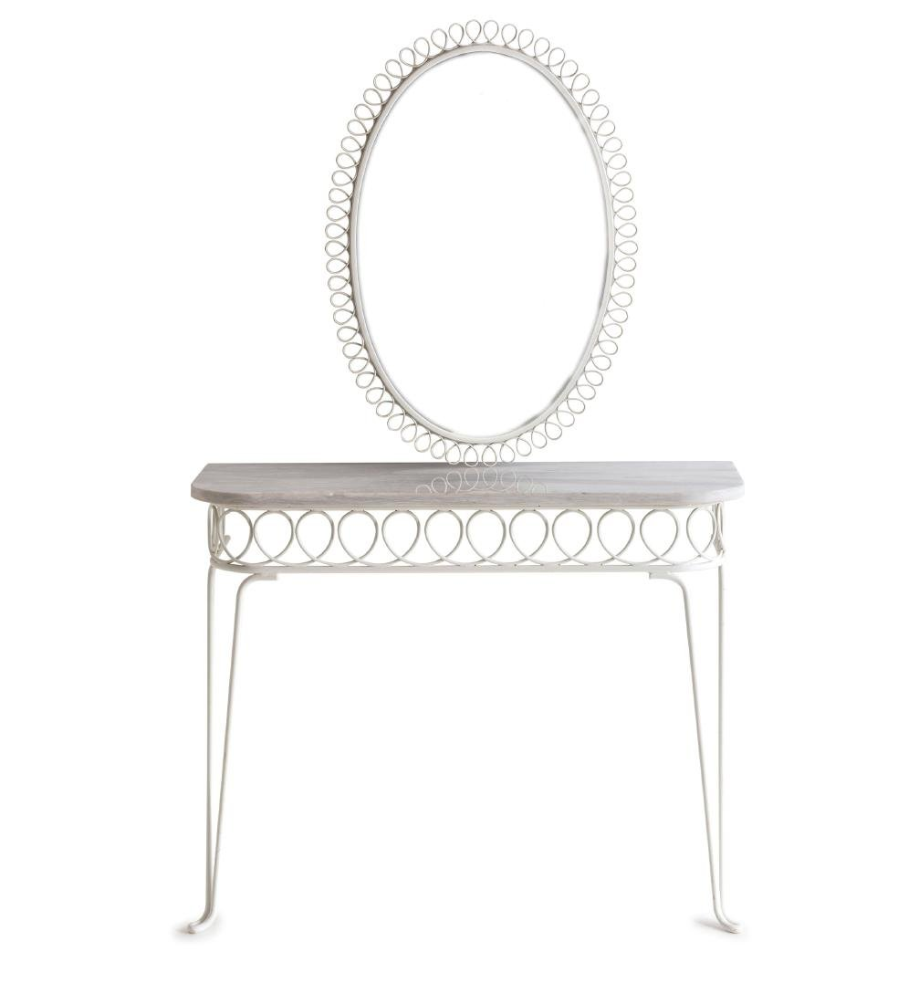 Console table with mirror, 1950s