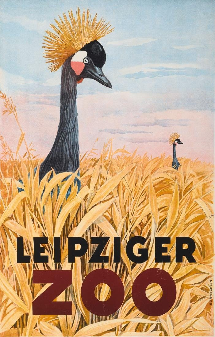 'Leipziger Zoo' poster, 1953