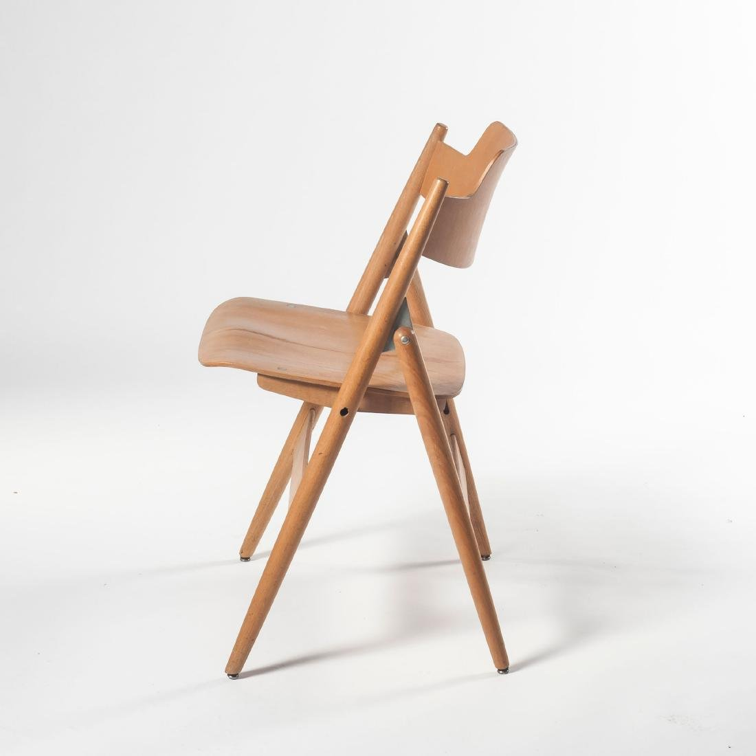 Six 'SE 18' folding chairs, 1953 - 2