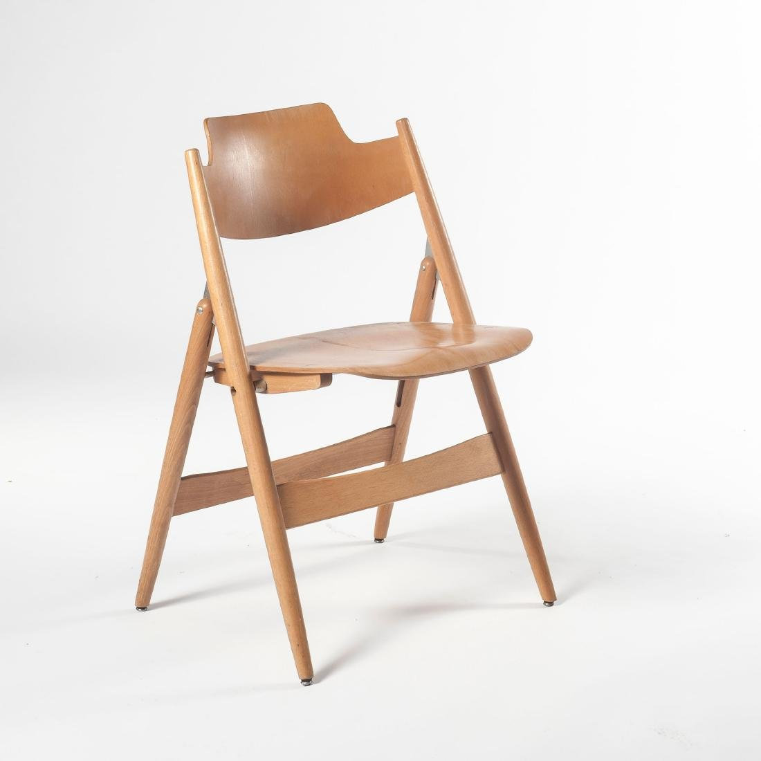 Six 'SE 18' folding chairs, 1953 - 6