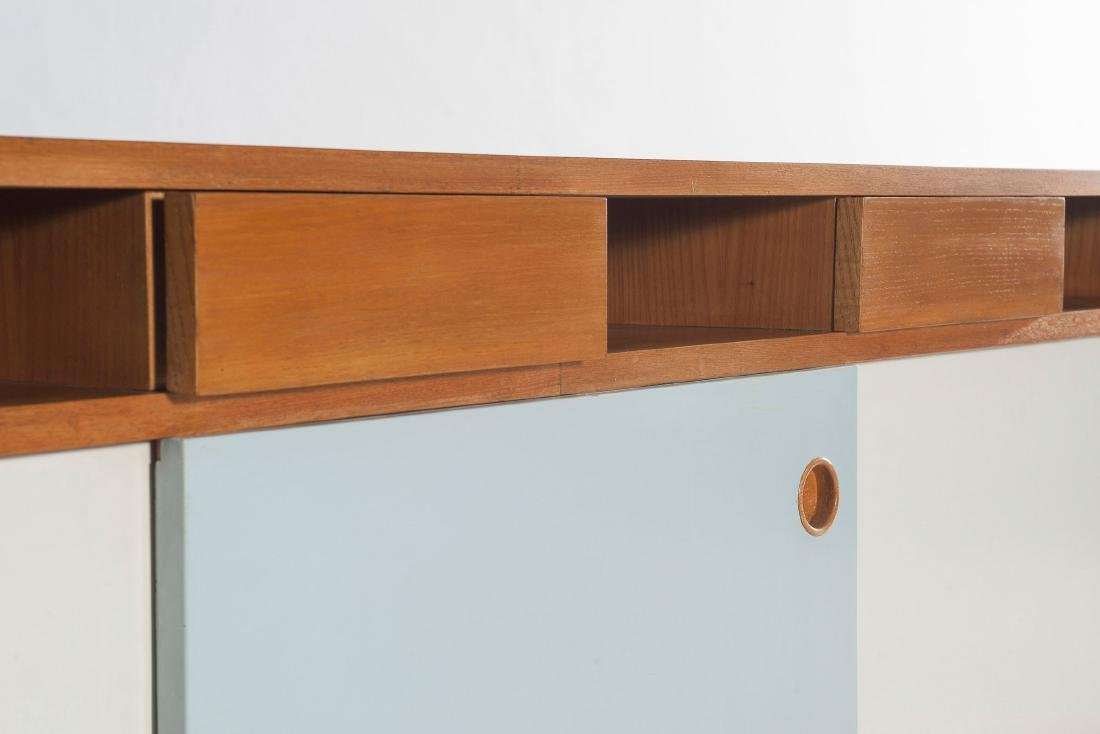 Unique corner sideboard, wall mounted, c1955 - 5