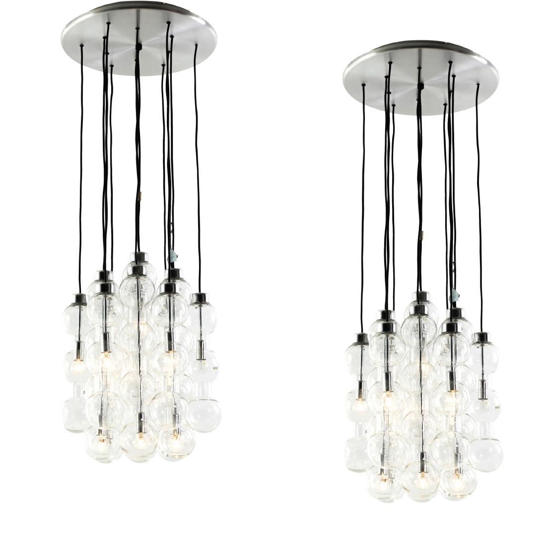 Two '4309' pendant lights, 1960s