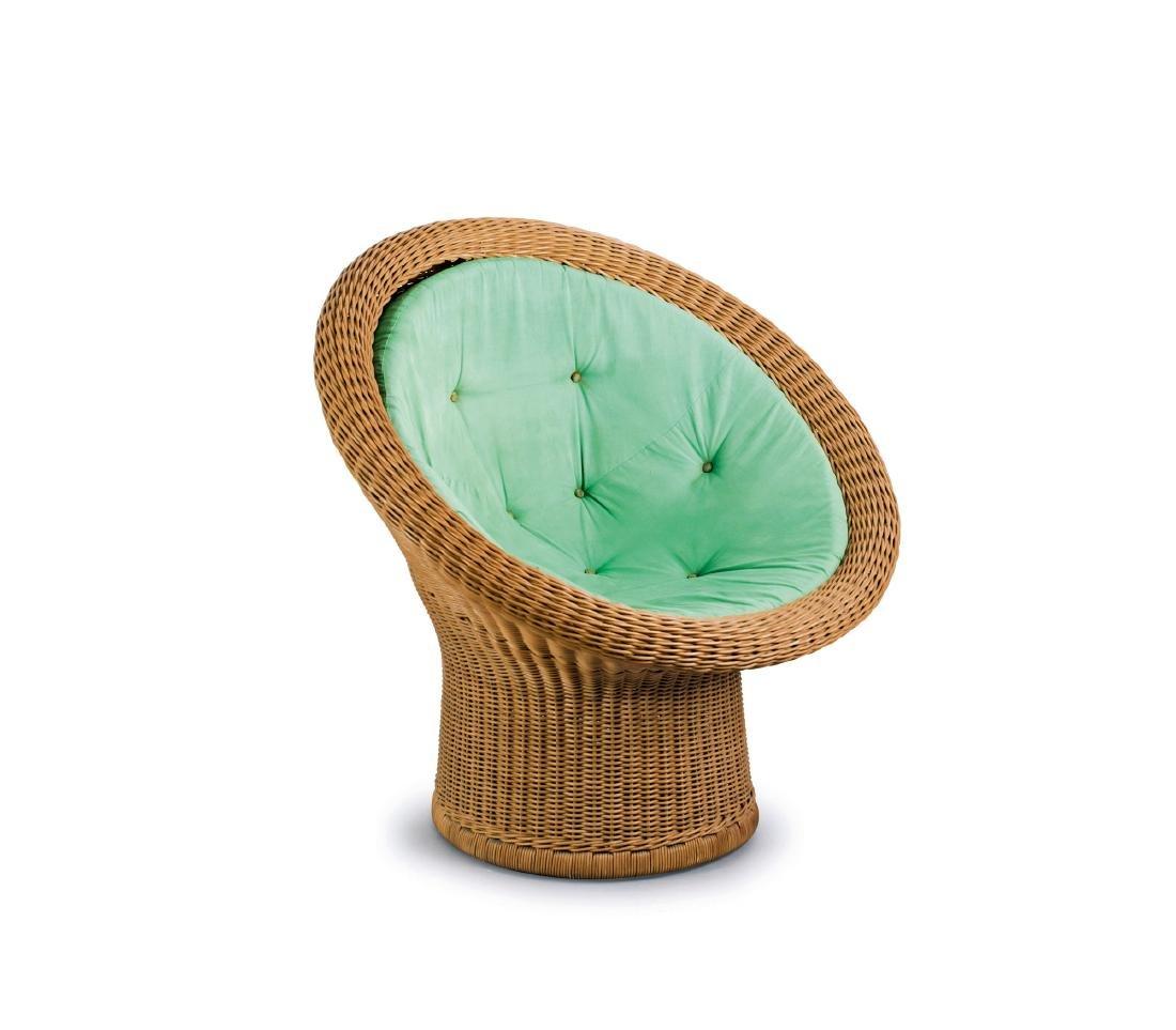 'E 11' wicker chair, 1967/68