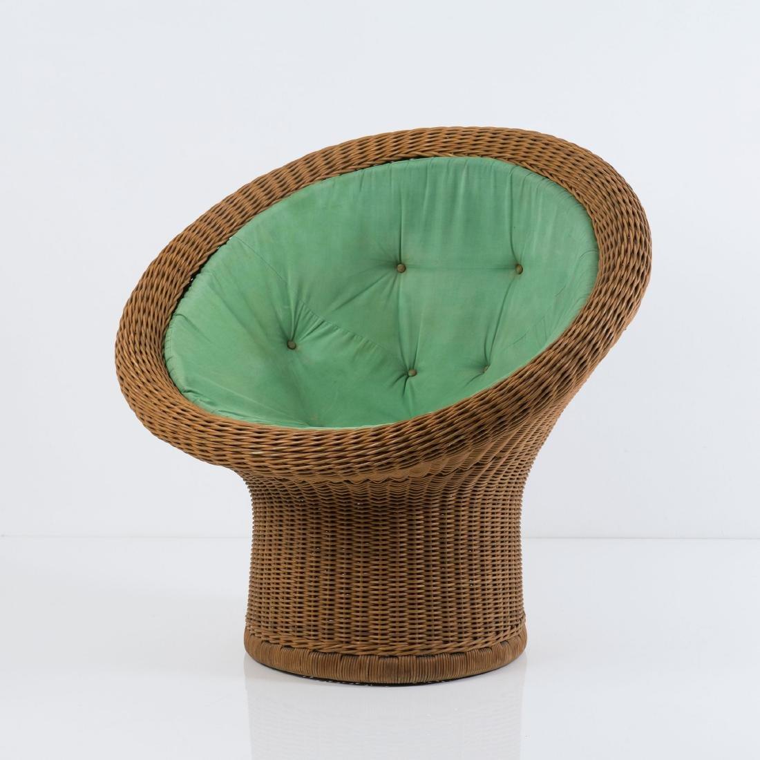 'E 11' wicker chair, 1967/68 - 2