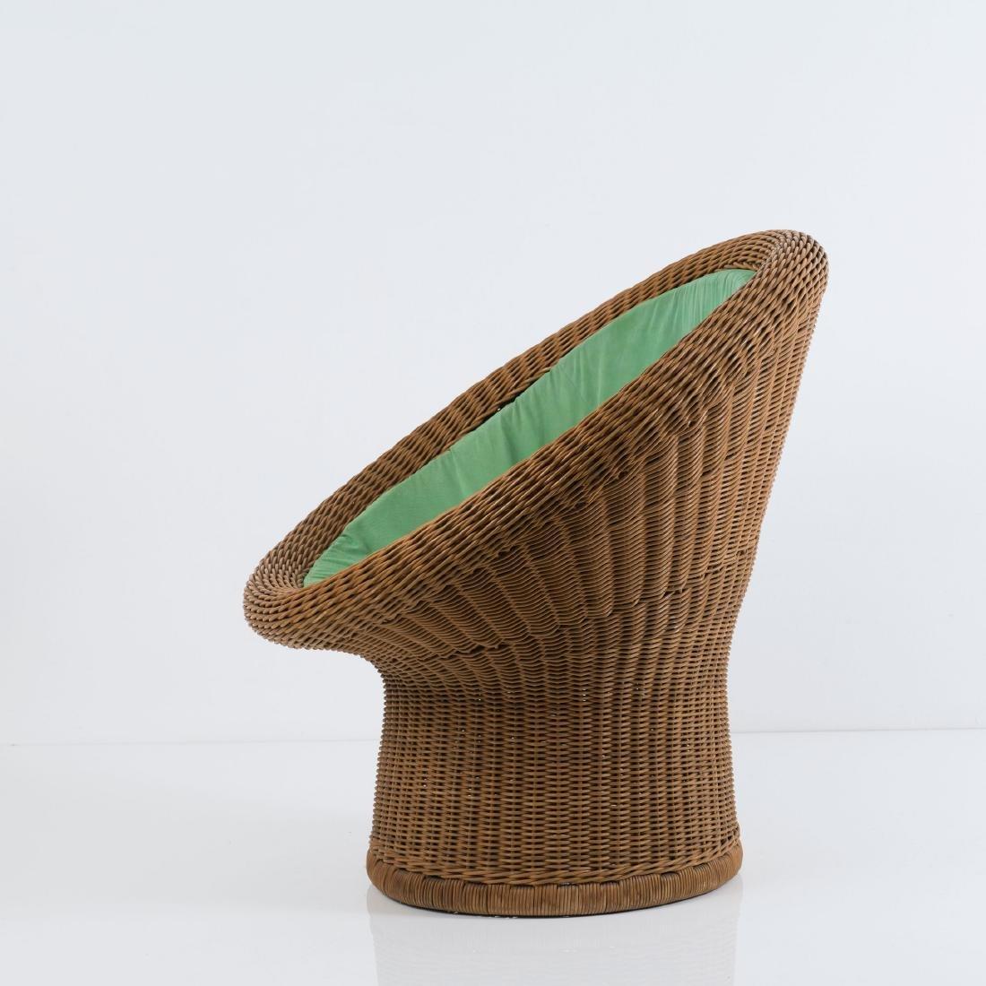 'E 11' wicker chair, 1967/68 - 3