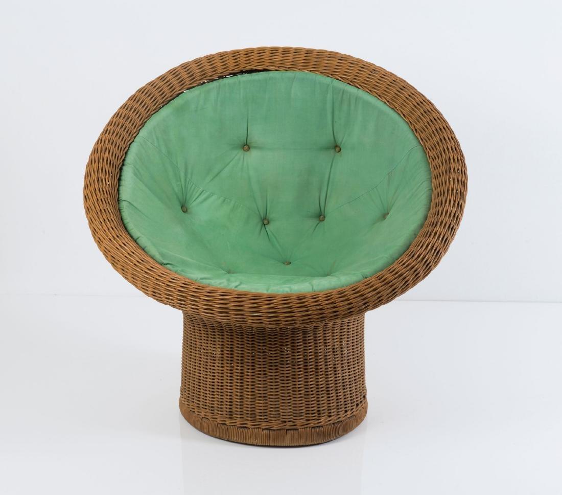 'E 11' wicker chair, 1967/68 - 4