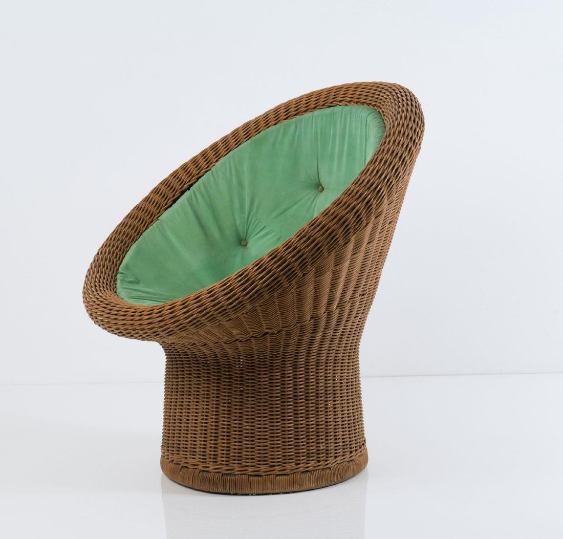 'E 11' wicker chair, 1967/68 - 5