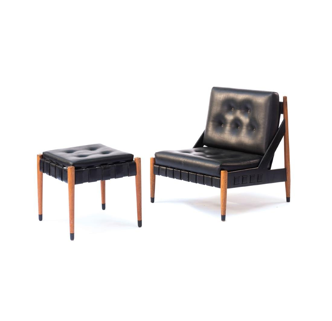 'SE 12' easy chair with 'SE 120' ottoman, 1969
