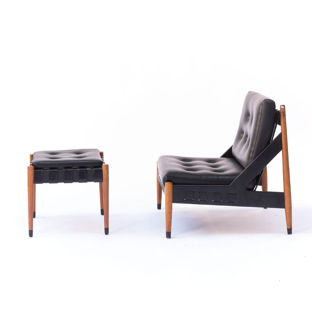 'SE 12' easy chair with 'SE 120' ottoman, 1969 - 2