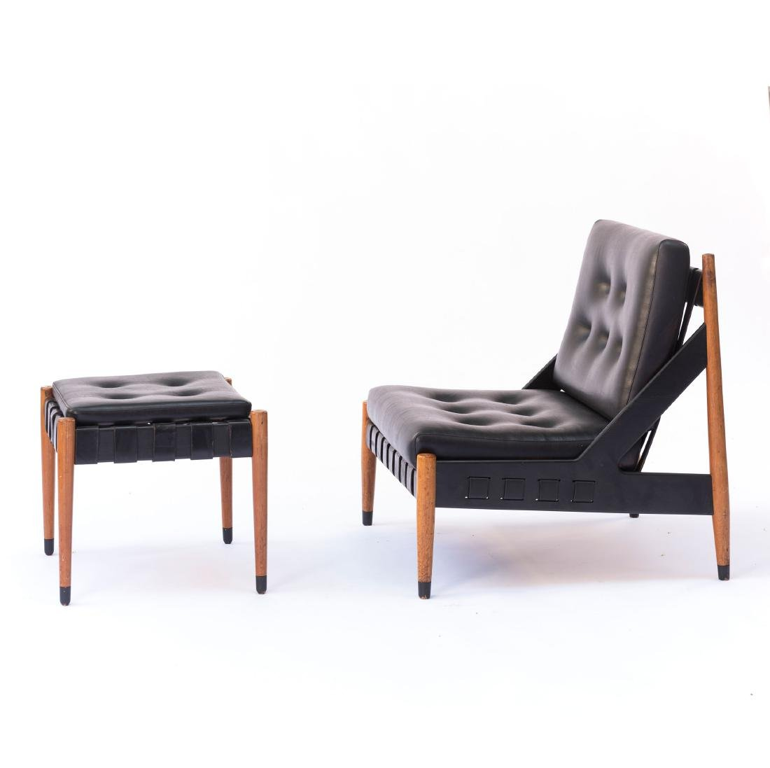 'SE 12' easy chair with 'SE 120' ottoman, 1969 - 3