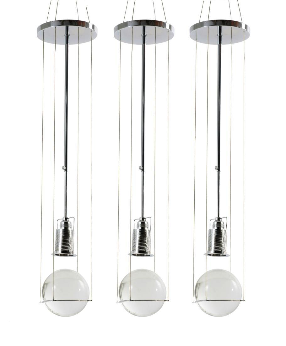 Three 'Le tre streghe' pendant lights, 1981
