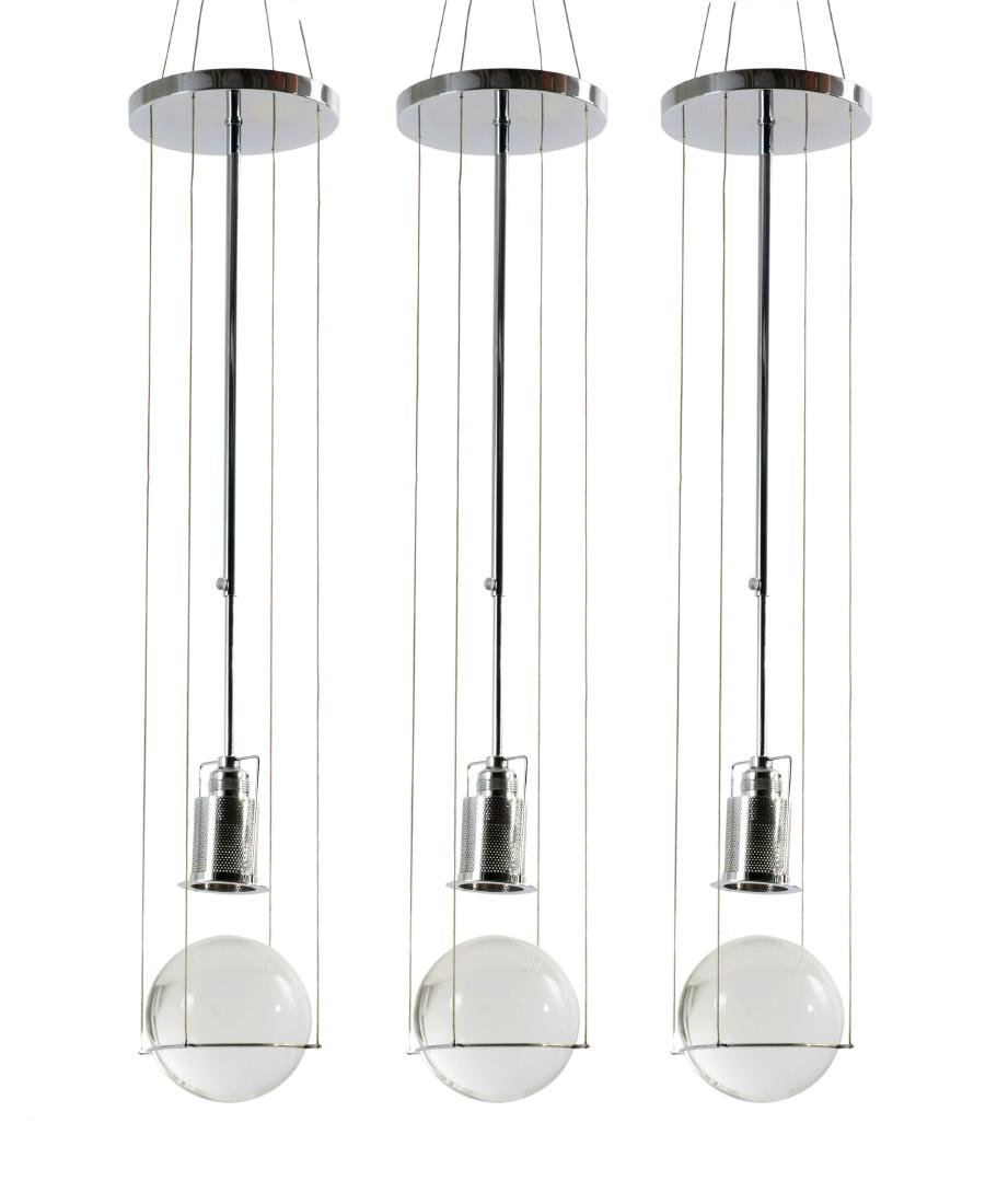Three 'Le tre streghe' pendant lights, 1981