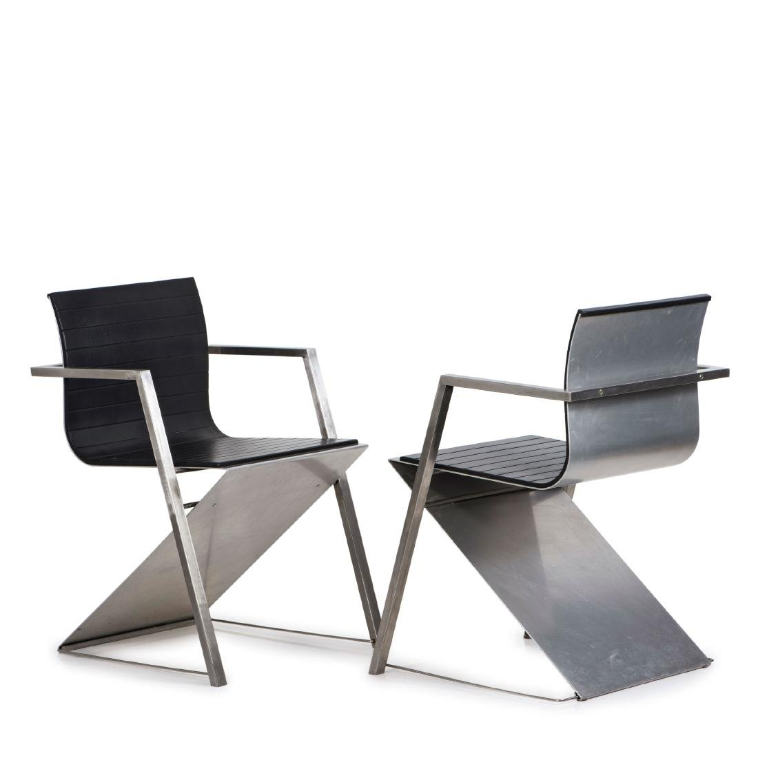 Two 'd8 Documenta' armchairs, 1987