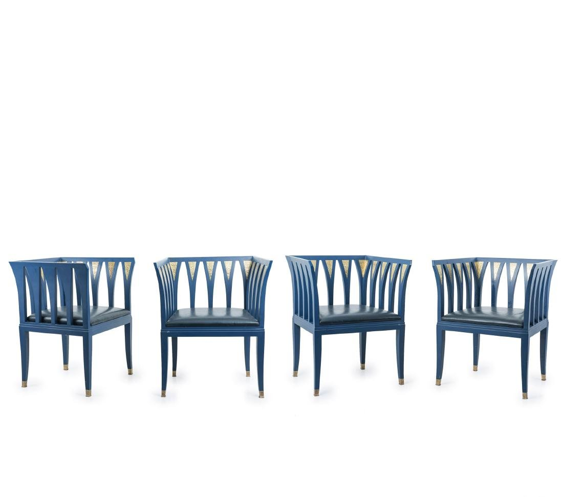 Four 'Blue' armchairs, 1929