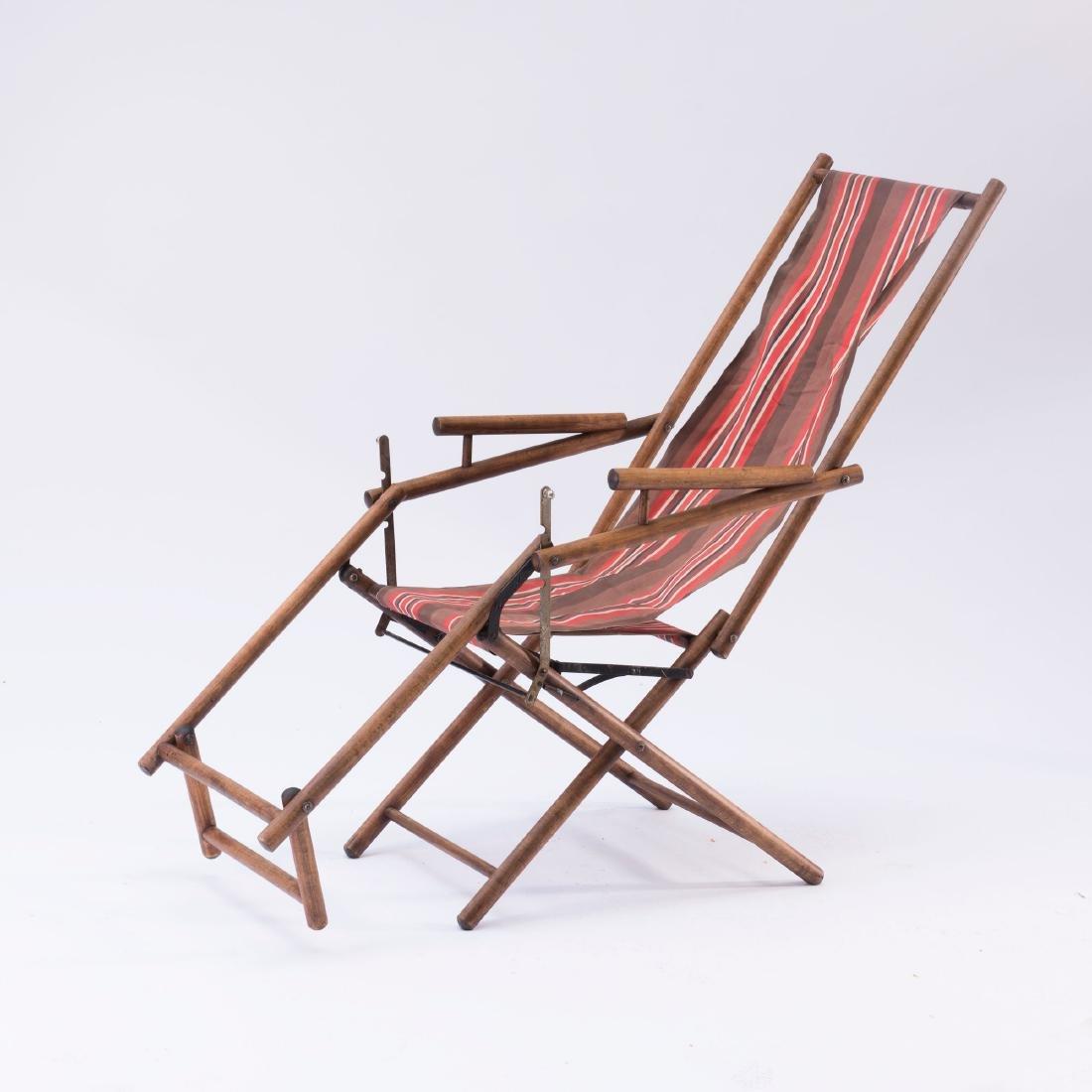 Folding lawn chair, 1930s