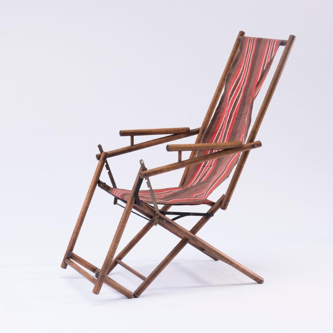 Folding lawn chair, 1930s - 2