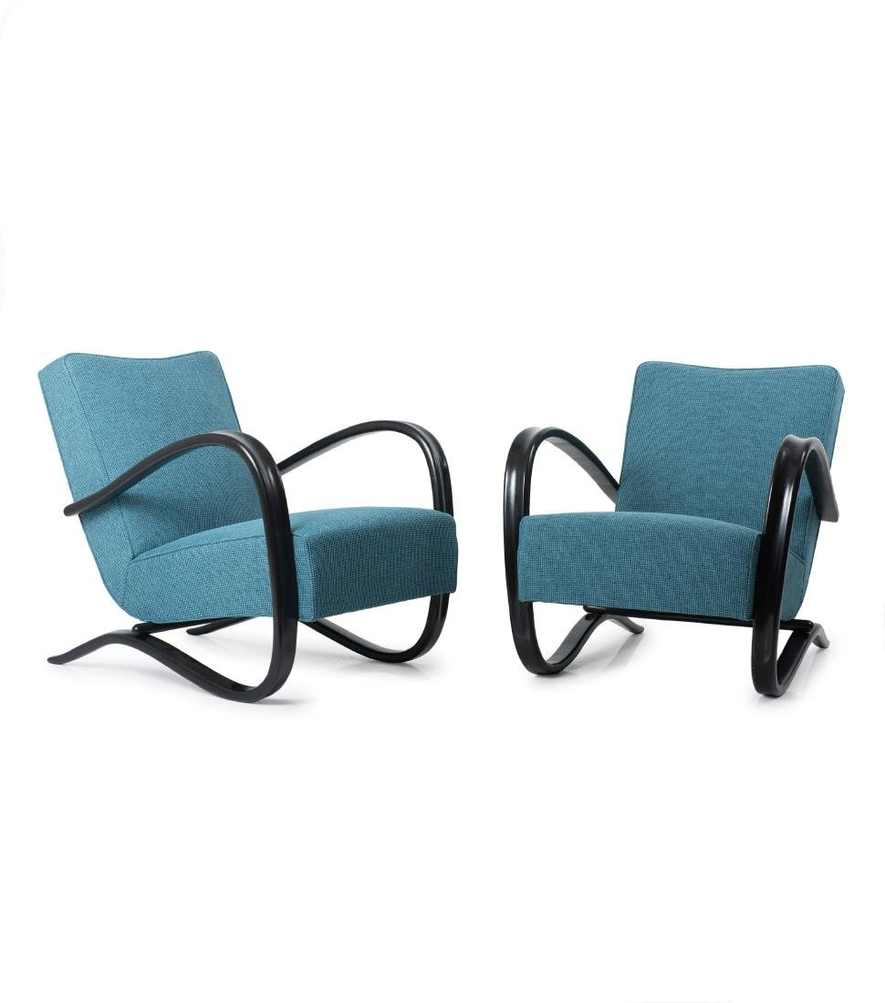 Two 'H 269' easy chairs, 1930s / 1940s