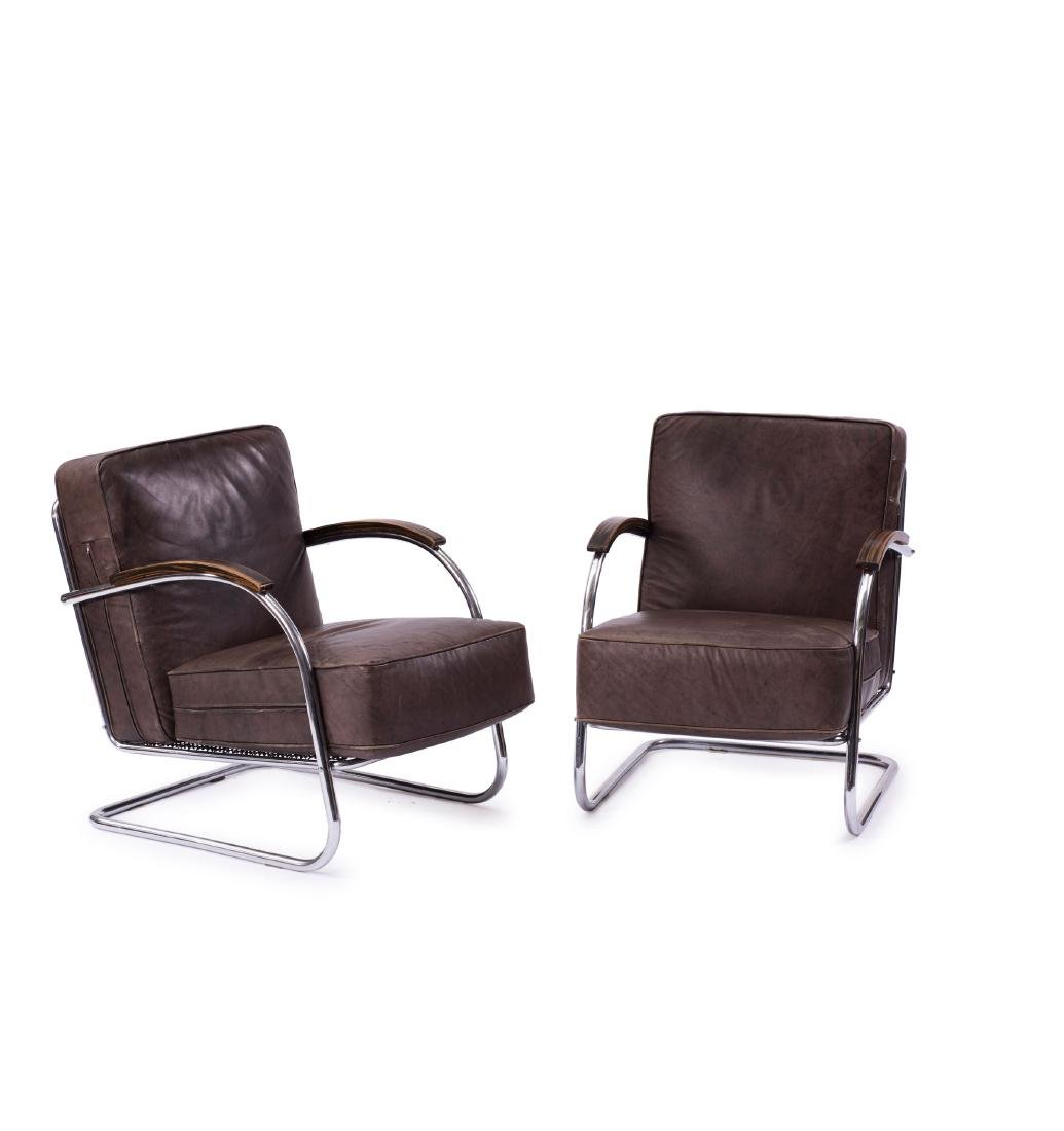 Two easy chairs, 1930s
