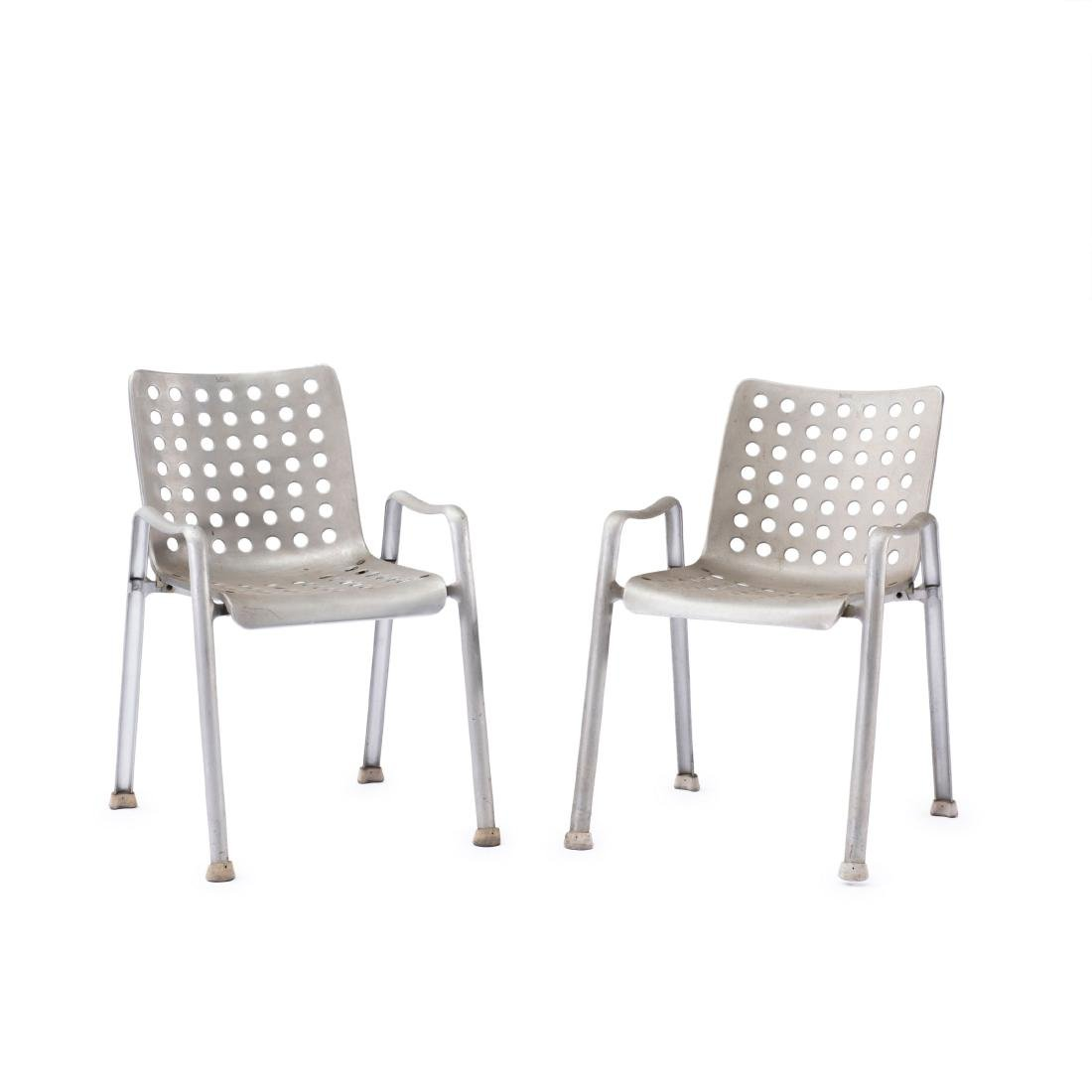 Two 'Landi' stacking chairs, 1938