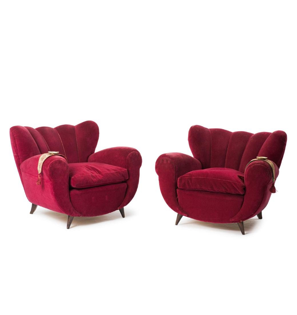 Two easy chairs, 1940s