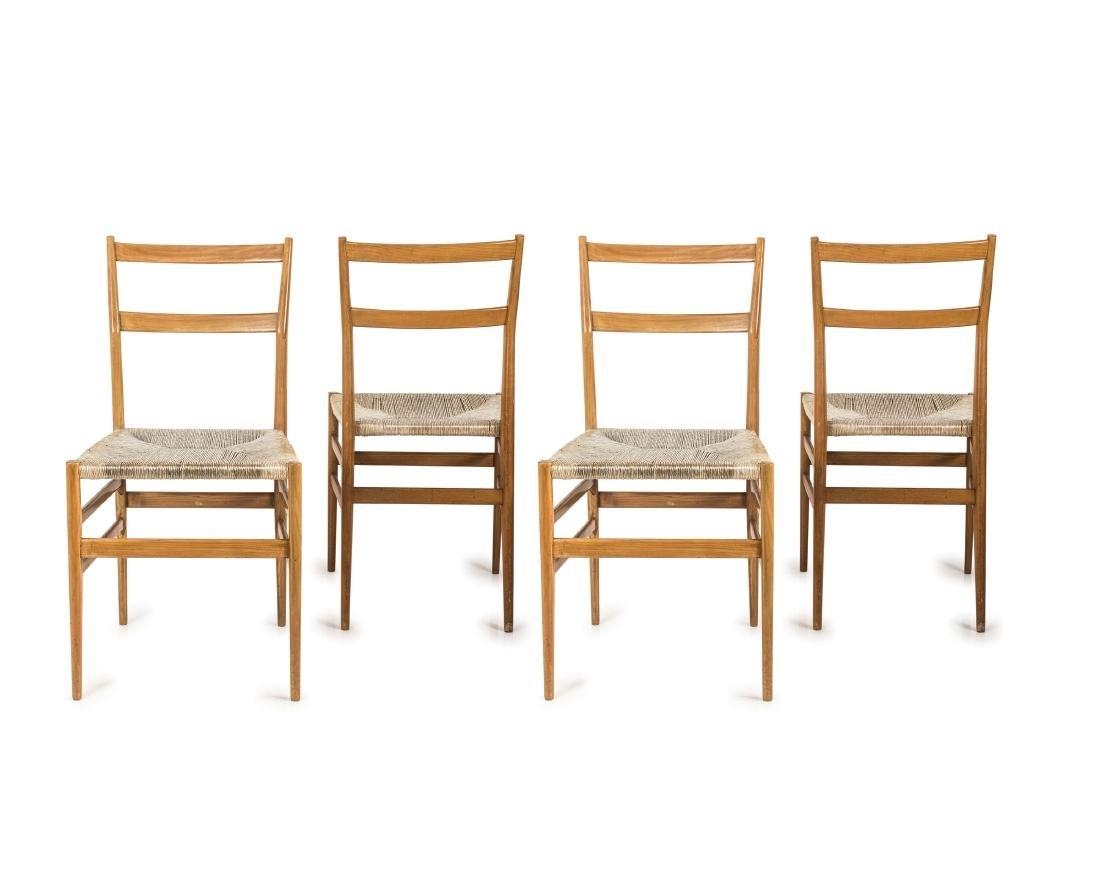 Four 'Leggera' chairs, 1949/50