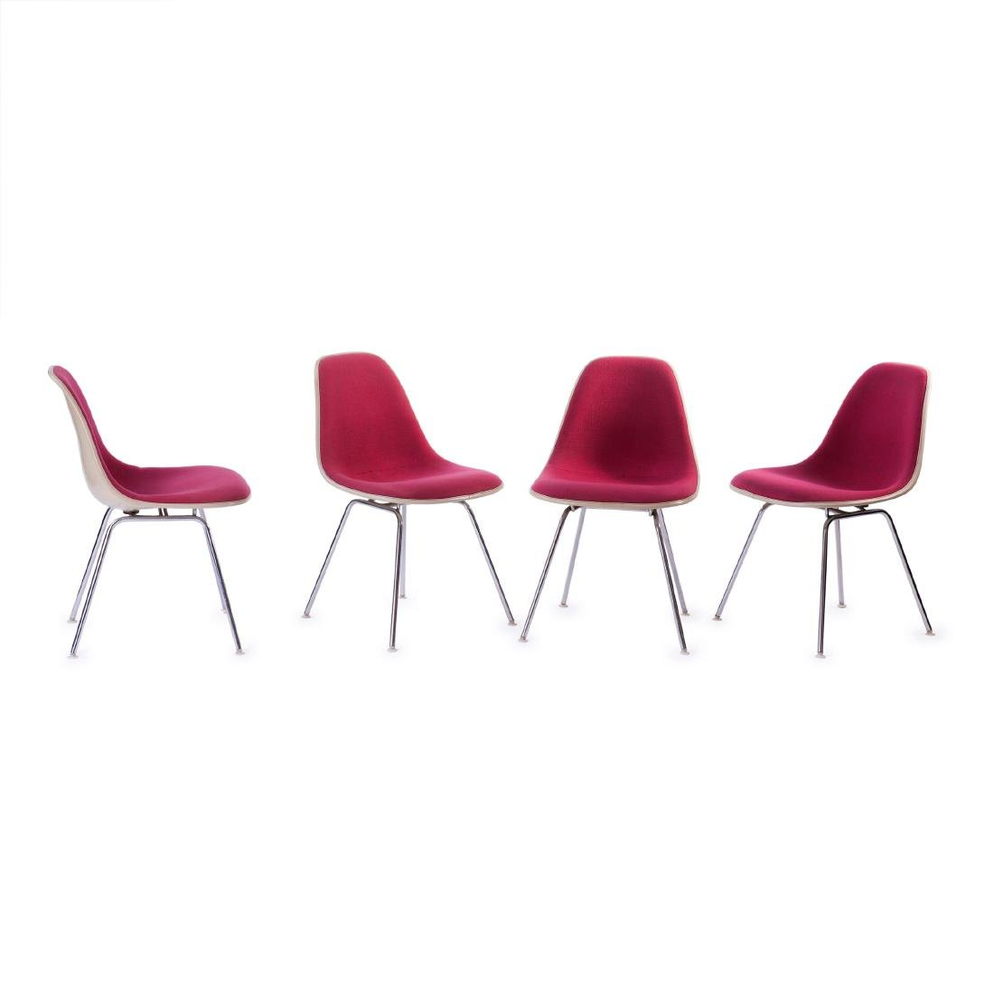 Four 'Plastic Side Chairs' on 'H' base, 1950/53