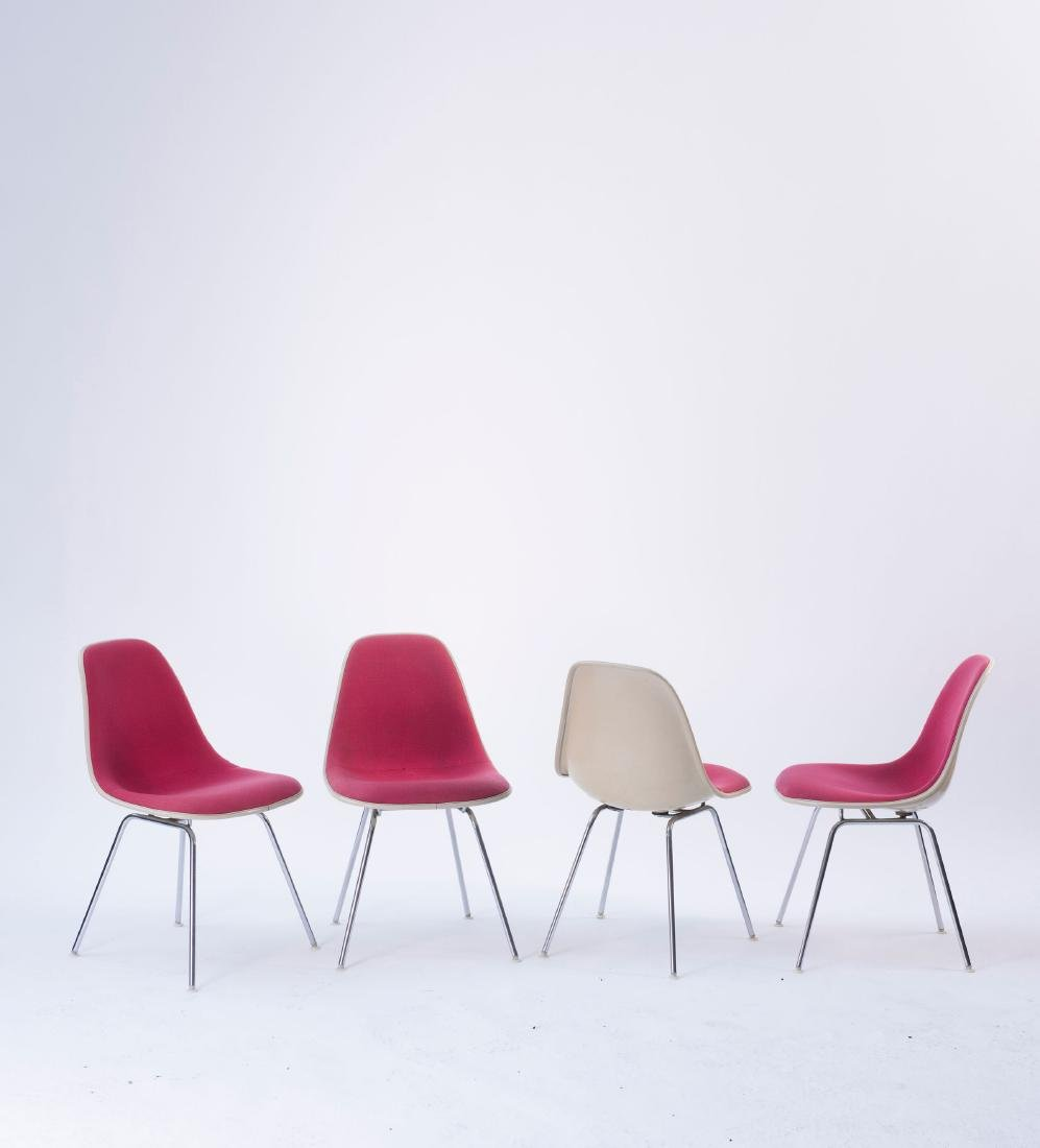 Four 'Plastic Side Chairs' on 'H' base, 1950/53 - 2