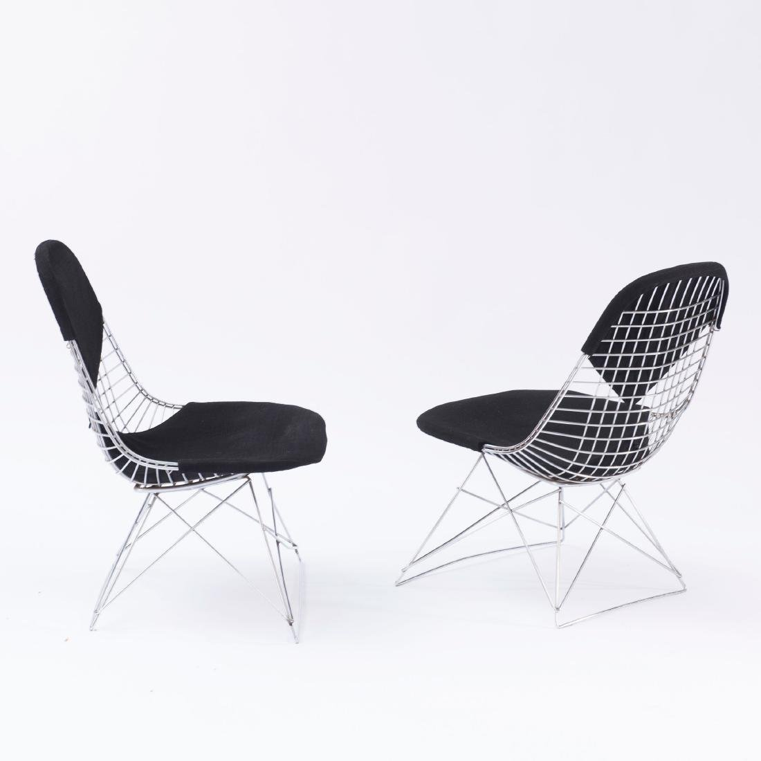 Two 'Wire mesh' chairs on 'LKR base', 1951 - 2