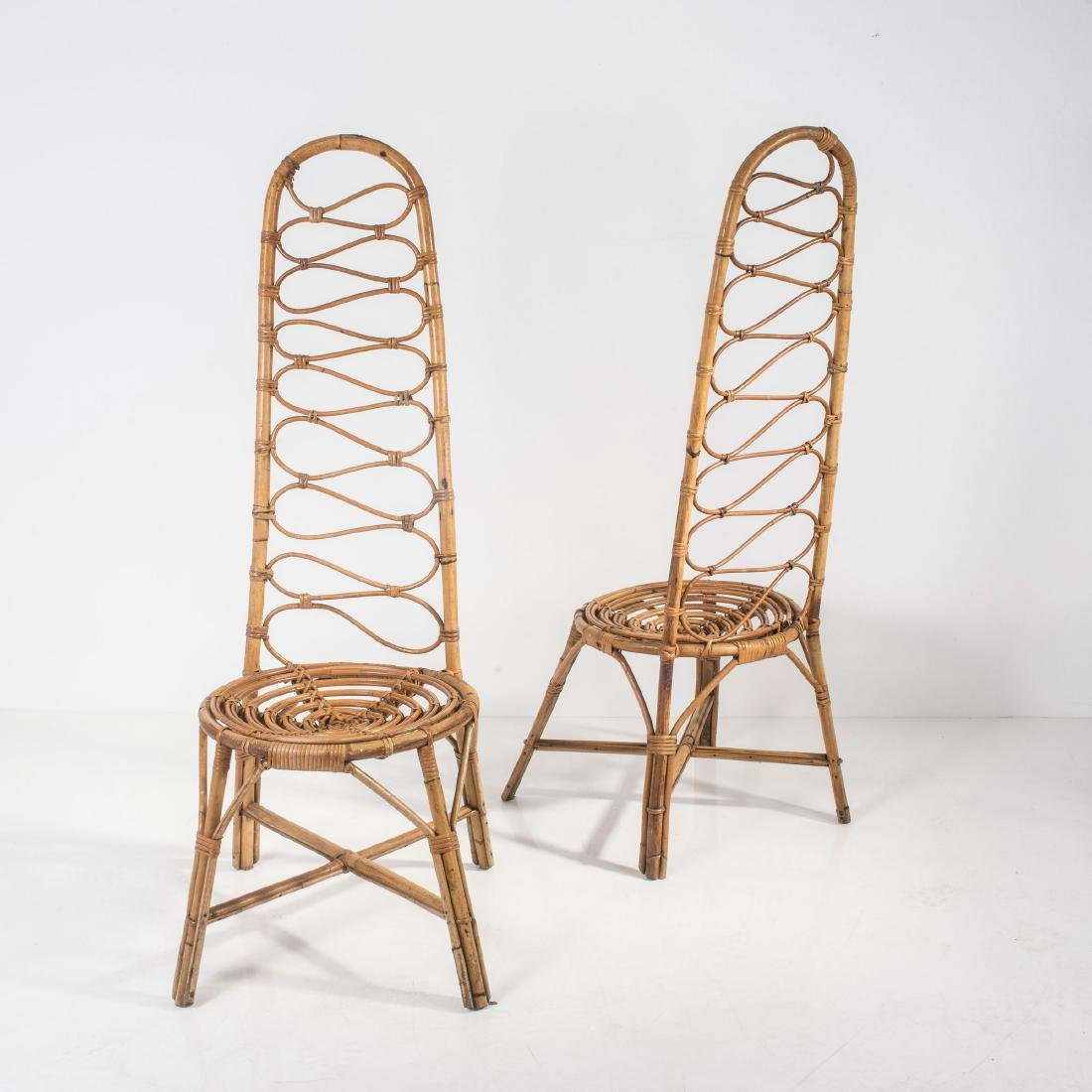 Two highback chairs, 1950s - 2