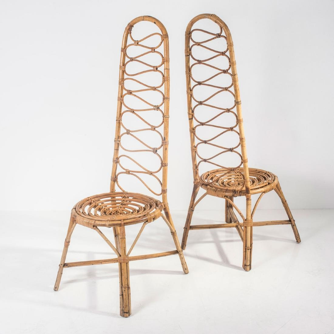 Two highback chairs, 1950s - 3