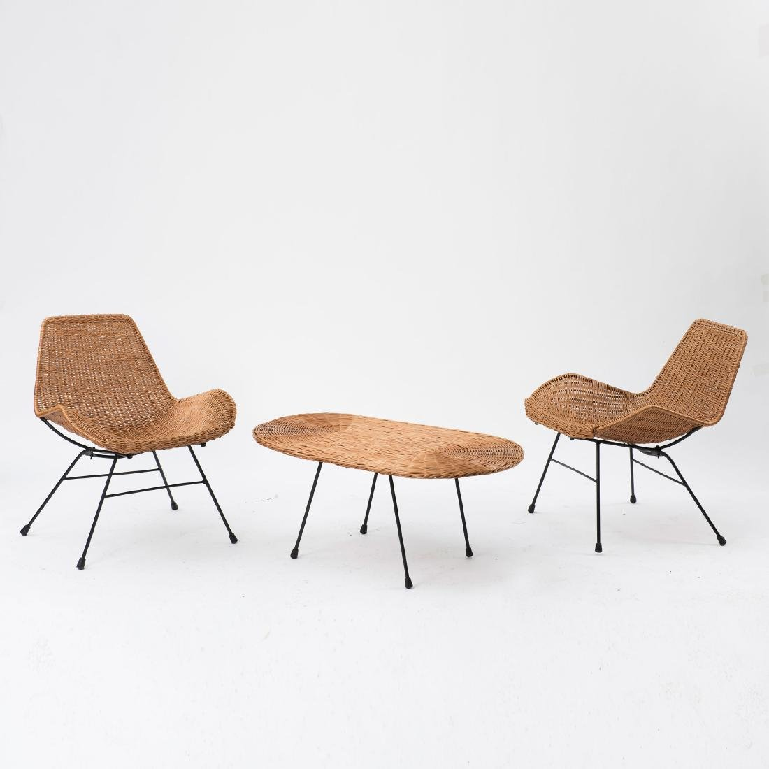 Two easy chairs and a coffee table from the 'Triva' - 2