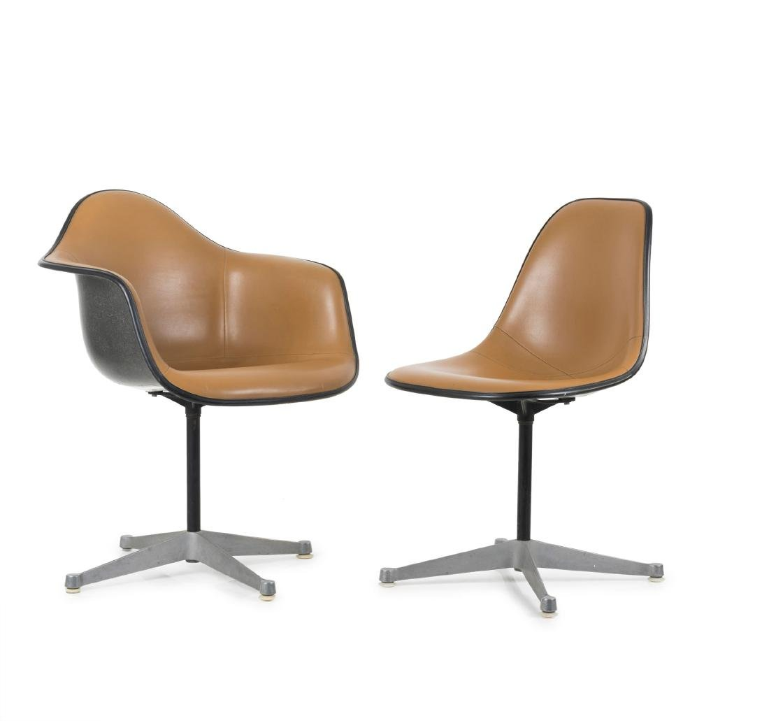 'Plastic Armchair' and 'Plastic Side Chair' on