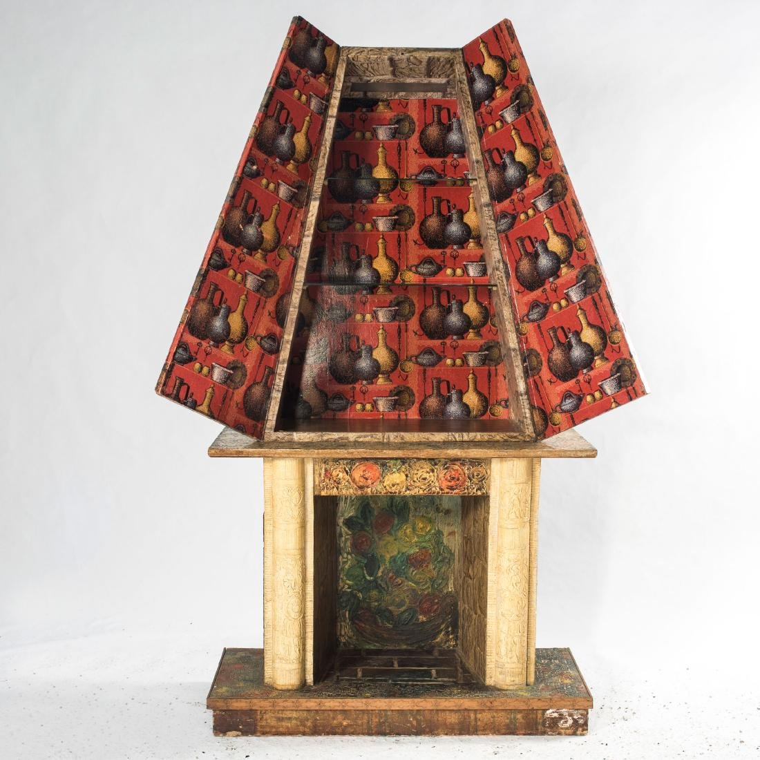 'Fireplace' liquor cabinet, 1950s - 6
