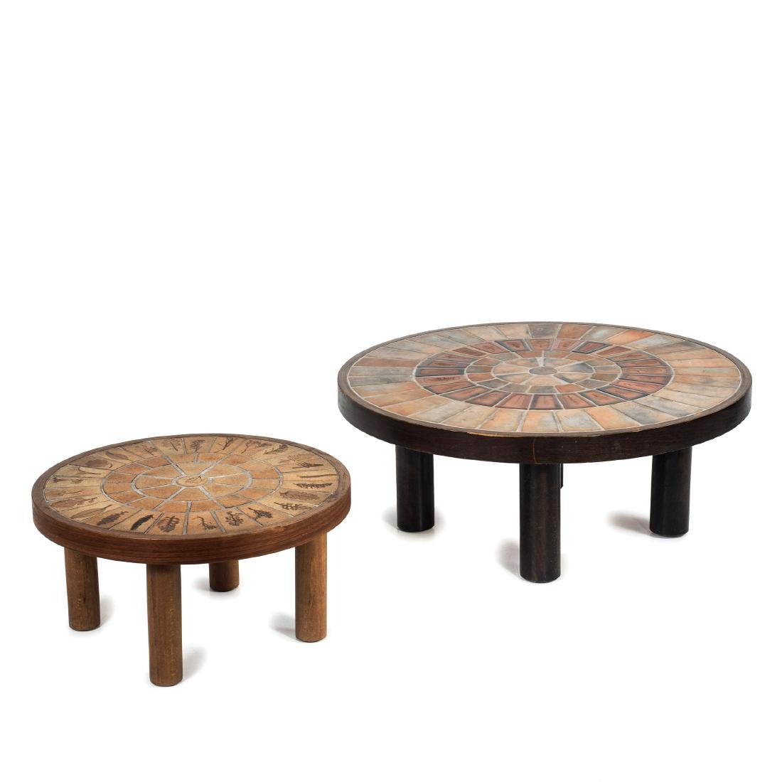 Two 'Garrigue' side tables, c. 1955