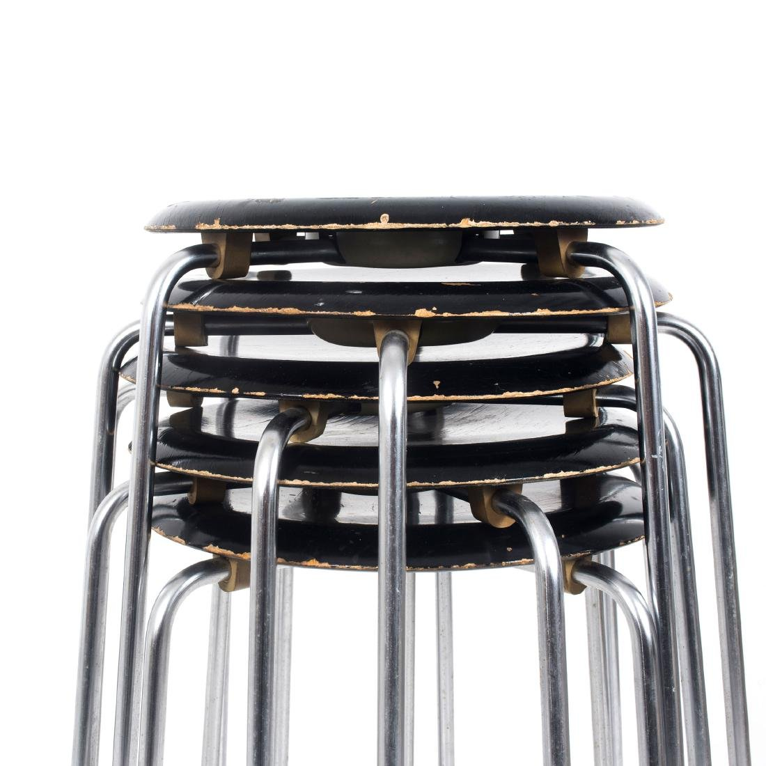 Six 'Dot' - '3170' stacking stools, c. 1955 - 2